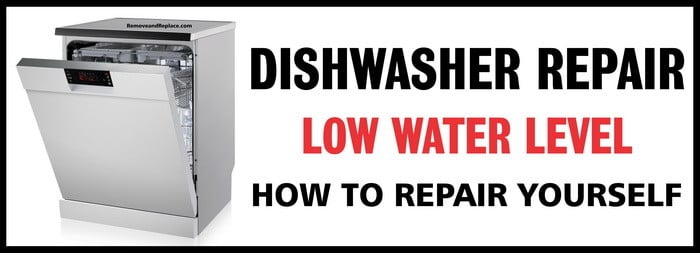 dishwasher low water level