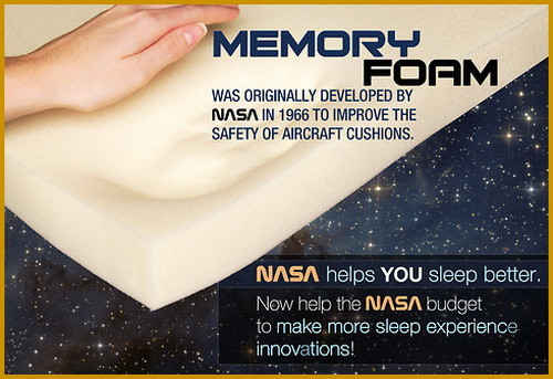 NASA created memory foam