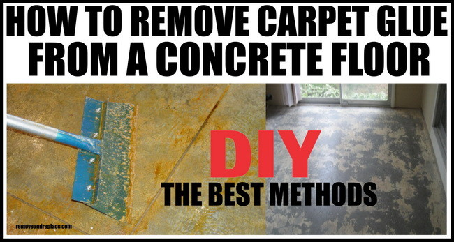 How to remove carpet glue from concrete flooring for Getting grease off concrete