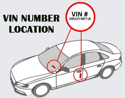 To Find The Vin Number On Your Car Look Bottom Right Of Windshield Or Inner Driver Door