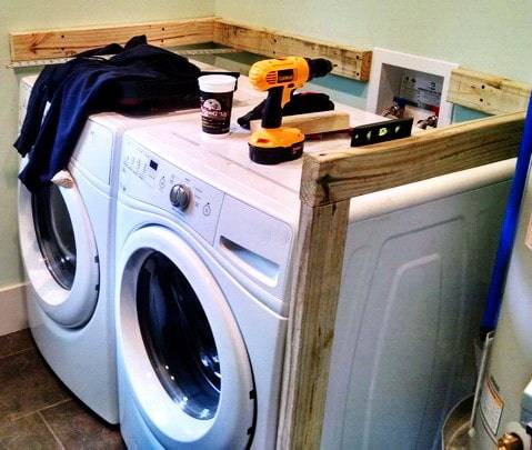 Diy Laundry Room Countertop Over Washer Dryer Us3