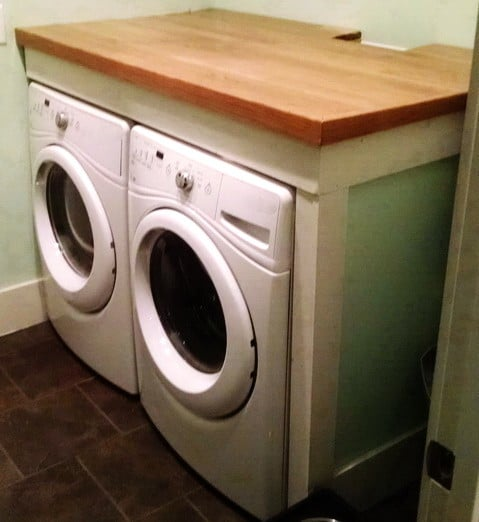 Countertop Options For Laundry Room : Step 8 ? Use a wood stain and stain the wood darker to create a ...