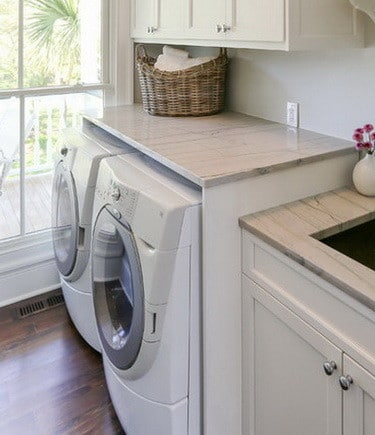 Countertop Options For Laundry Room : DIY Laundry Room Countertop Over Washer Dryer RemoveandReplace.com