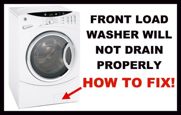 front load washer not draining