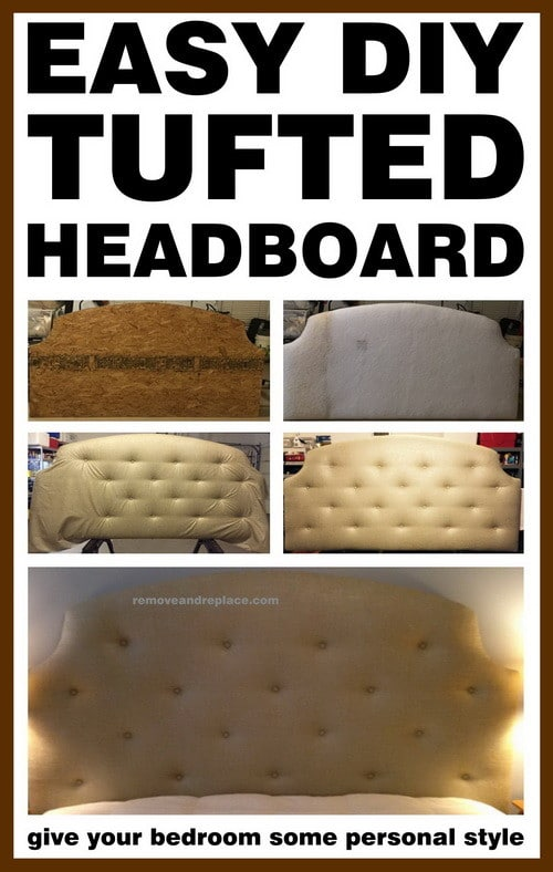 Do It Yourself Tufted Headboard Diy Project