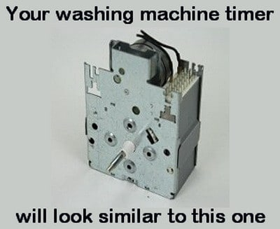 washing machine with timer