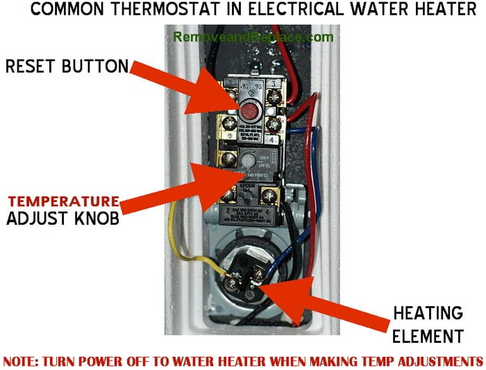 water heater thermostat how to change the temperature on your electric water heater  at fashall.co