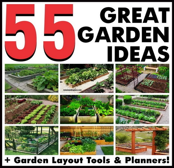 55 great garden layout ideas backyard gardens for Garden arrangement ideas