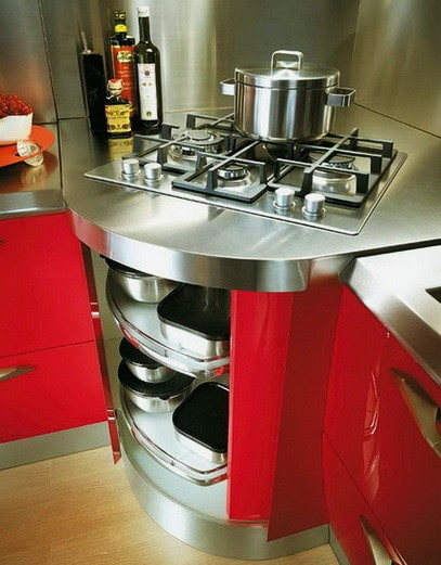 Ideas For Kitchen Efficiency - Compact Kitchens_27