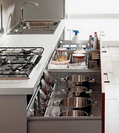 Ideas For Kitchen Efficiency - Compact Kitchens_32
