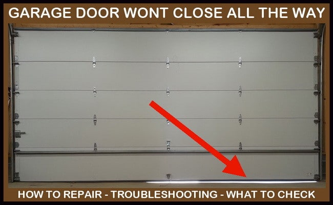 Garage_door_wont_close_all_the_way. The Reasons Your Garage Door ...
