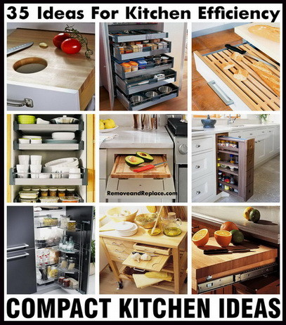 35 Ideas For Kitchen Efficiency - Compact Kitchens on