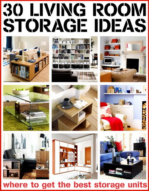 30 living room storage ideas for Living room shelving ideas