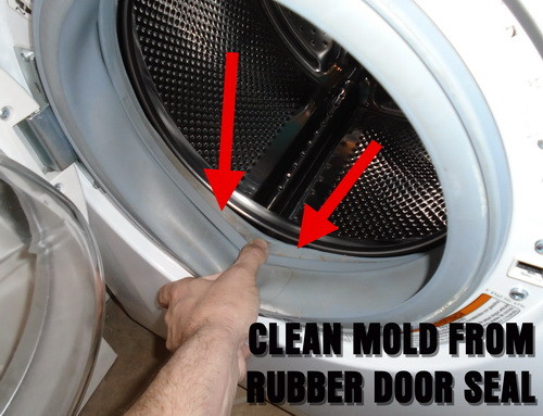 clean mold from front load rubber door seal