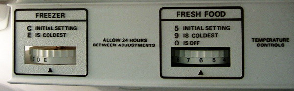 fridge dial settings