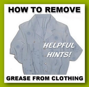 Remove Grease On Clothes