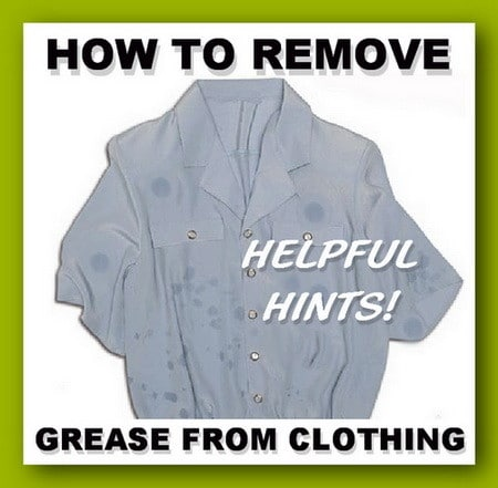How to remove grease stains from clothes for How to get set in grease stains out of shirts