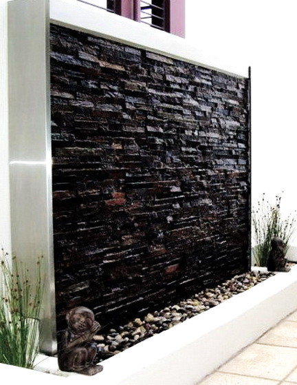30 relaxing water wall ideas for your backyard or indoor - Wasserwand outdoor ...