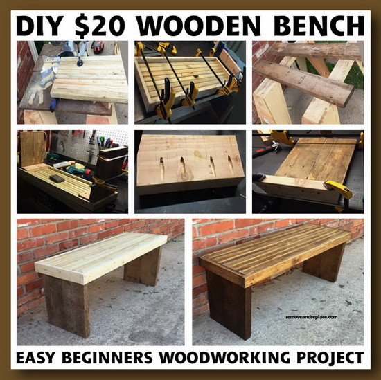 DIY $20 Dollar Beginner Wooden Bench Project ...