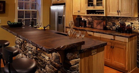 Kitchen Countertops Made of Wood_04