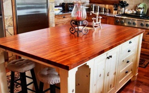 Kitchen Countertops Made of Wood_07