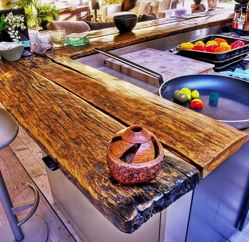 Kitchen Countertops Made of Wood_08