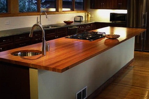 Kitchen Countertops Made of Wood_12