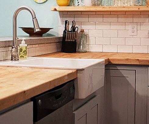 wood kitchen countertops with sink 35 kitchen countertops made of wood ideas removeandreplacecom