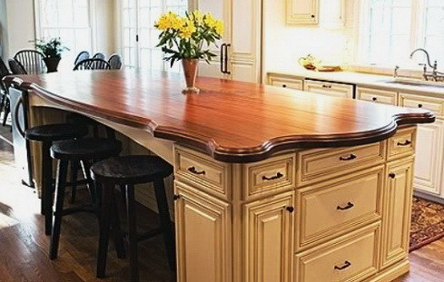 Kitchen Countertops Made of Wood_20