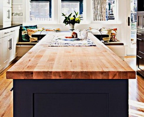 Kitchen Countertops Made of Wood_23