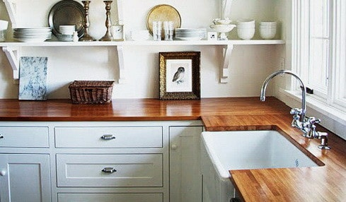 Kitchen Countertops Made of Wood_31