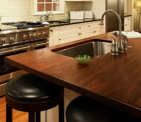 Kitchen Countertops Made of Wood_33