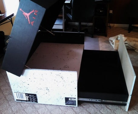 8b3fb02798d Huge Nike Sneaker Storage Solution Inspired by Air Jordan Shoe Box