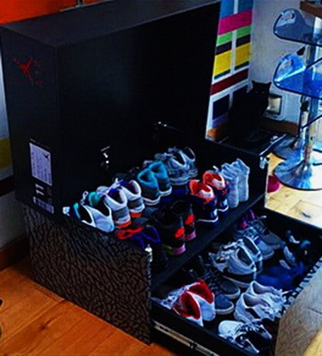 Great ... Huge Nike Sneaker Storage Solution Inspired By Air Jordan Shoe Box
