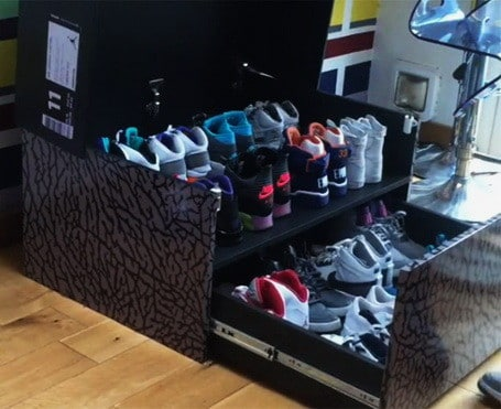 Huge Nike Sneaker Storage Solution Inspired By Air Jordan