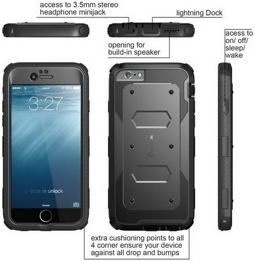 iPhone 6 Plus Case, [Armorbox] i-Blason® built in [Screen Protector] [Full body] [Heavy Duty Protection ] Shock Reduction[Bumper Corner] for Apple iPhone 6 Plus