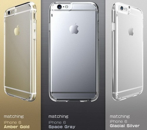 iPhone 6 Plus Case [Scratch Resistant] i-Blason Clear Halo Series Apple iPhone 6 Plus Case 5.5 inch Hybrid Cover (Clear)