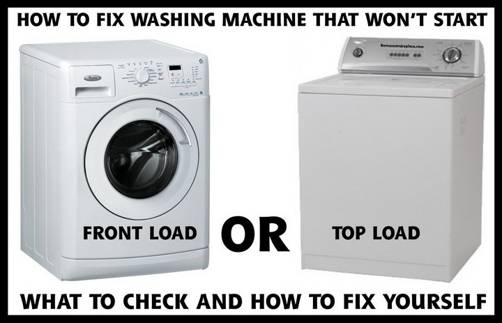 washing machine will not start what to check how to fix rh removeandreplace com