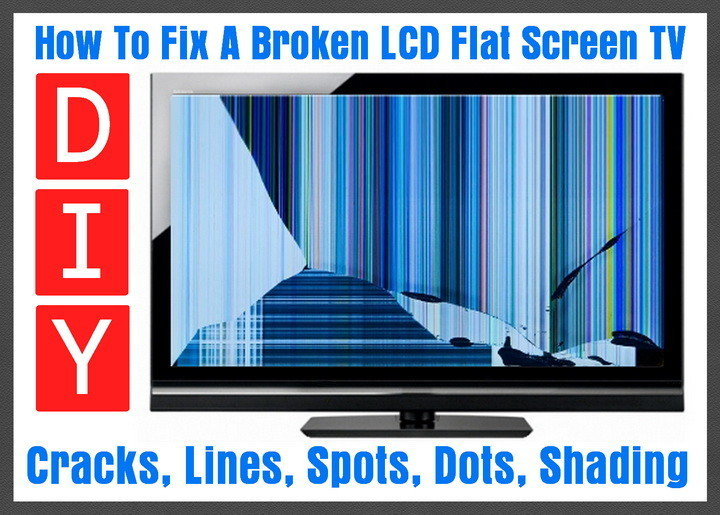 How to fix a broken flat screen lcd led tv with lines or cracks how to fix a broken flat screen lcd led plasma tv voltagebd Gallery