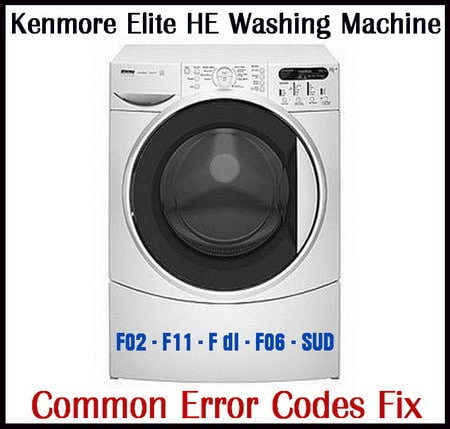 Kenmore Elite HE3 Washing Machine Error Codes Fix | RemoveandReplace com
