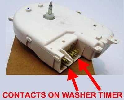 contacts on washer timer