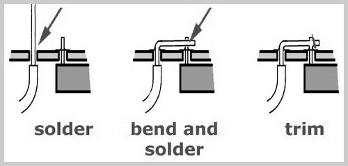 methods for soldering strained wires to circuit boards