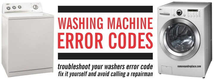 Washing Machine Error Codes Front Load And Top Load