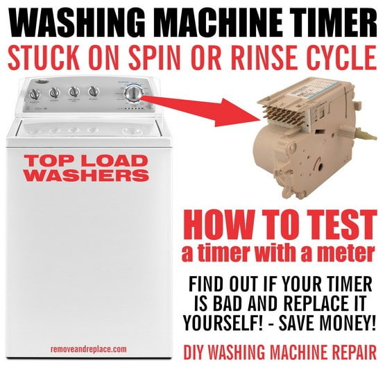 washer timer troubleshooting and repair washing machine timer stops during cycle how to test washer Trailer Wiring Harness at n-0.co
