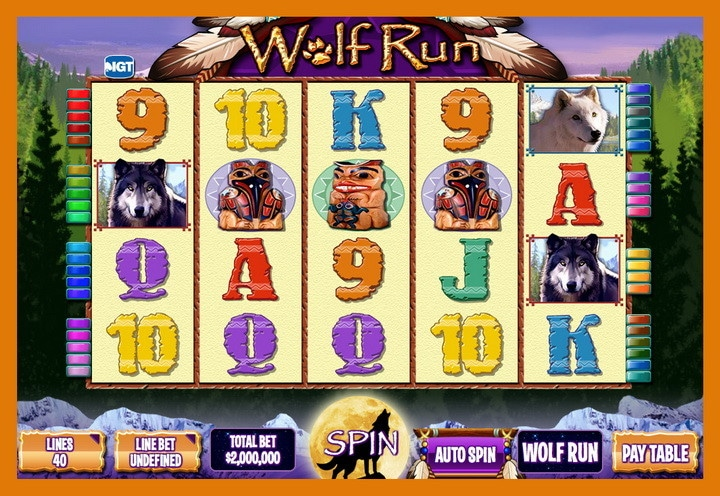 Wolf Run casino game for double down casino