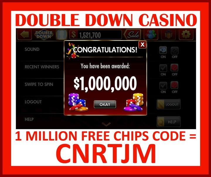 double down casino 1 million free chips code