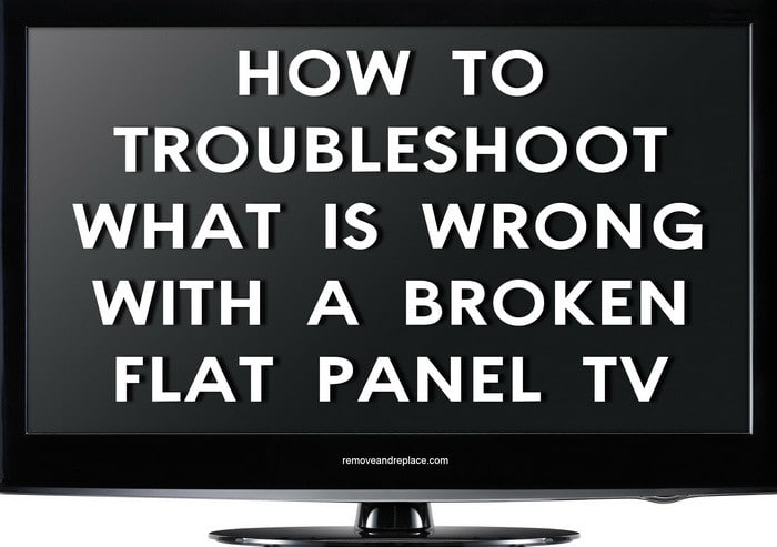 fix broken tv
