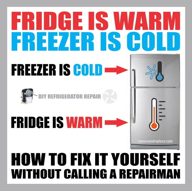 Fridge Is Warm Freezer Is Cold - How To Fix | RemoveandReplace com
