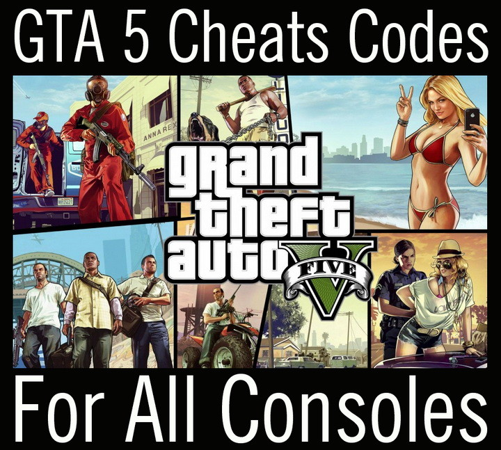 list of GTA 5 cheat codes for all gaming consoles