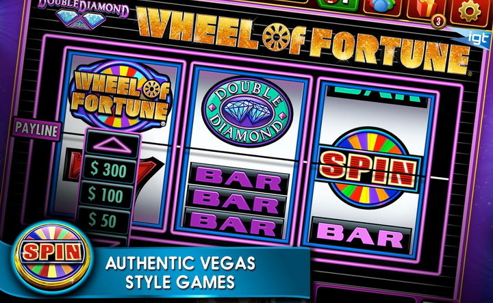 play the original WHEEL OF FORTUNE slot machine with the app DOUBLE DOWN CASINO